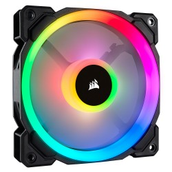 LL140 RGB Dual Light Loop RGB LED PWM Fan — 2 Fan Pack with Lighting Node PRO