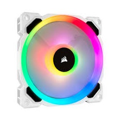 Corsair LL120 RGB 120mm Dual Light Loop RGB LED PWM Fan - Single Pack White